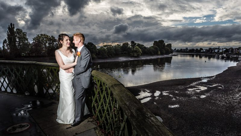 Hammersmith Bridge and Fulham London Wedding