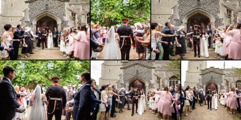 Church Wedding Confetti throw