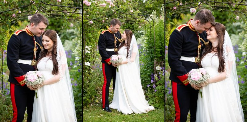 Military Bride & Groom Portraits | Blues & Royals of The Household Calvary