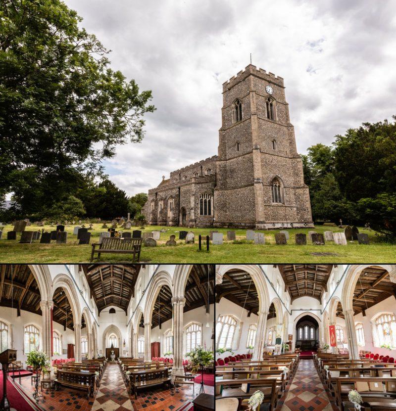 All Saints Church Lawshall Bury St Edmunds Suffolk Wedding