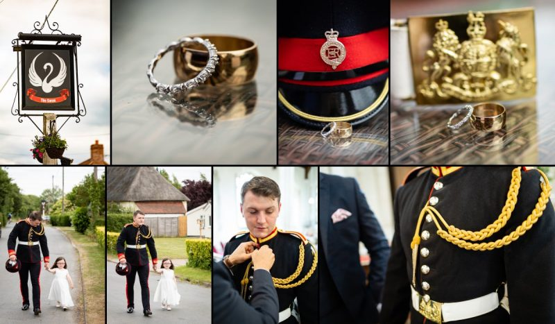 Groom from the Blues & Royals Household Cavalry Getting Ready for Wedding Day