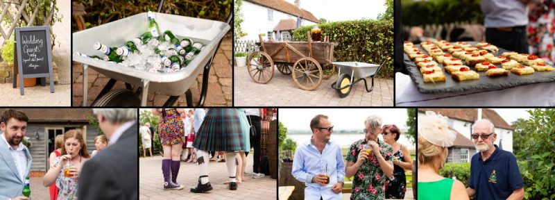 Wedding Drinks Reception at the Ferry House Inn
