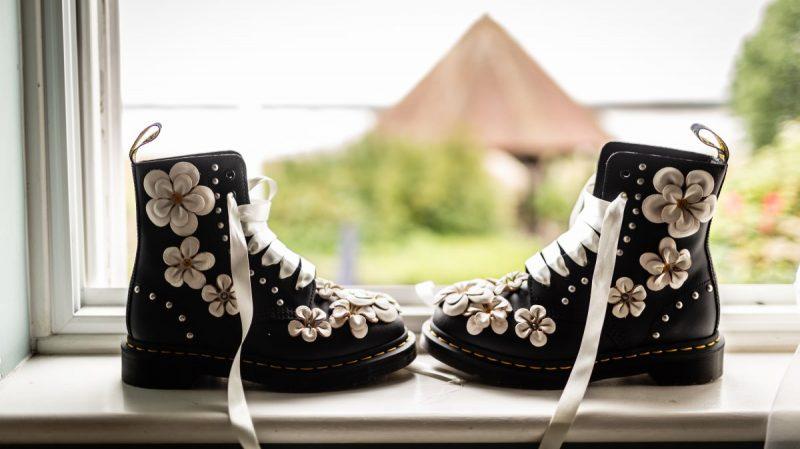 Custom Dr Martens Boots for a Wedding at Ferry House Inn Kent