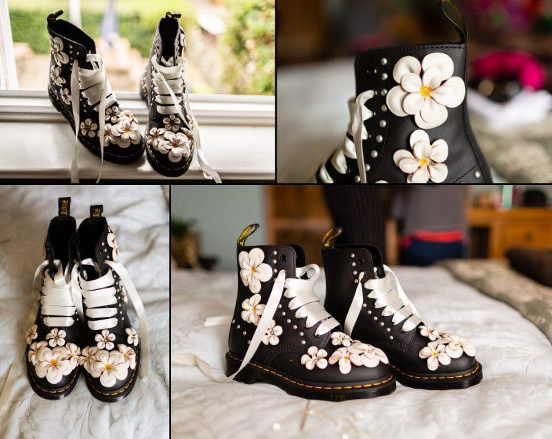 Custom made Dr Martens Boots for bride