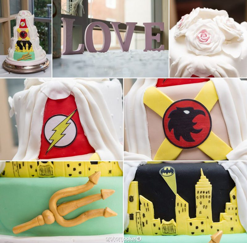 Super Hero Wedding Cake and Details