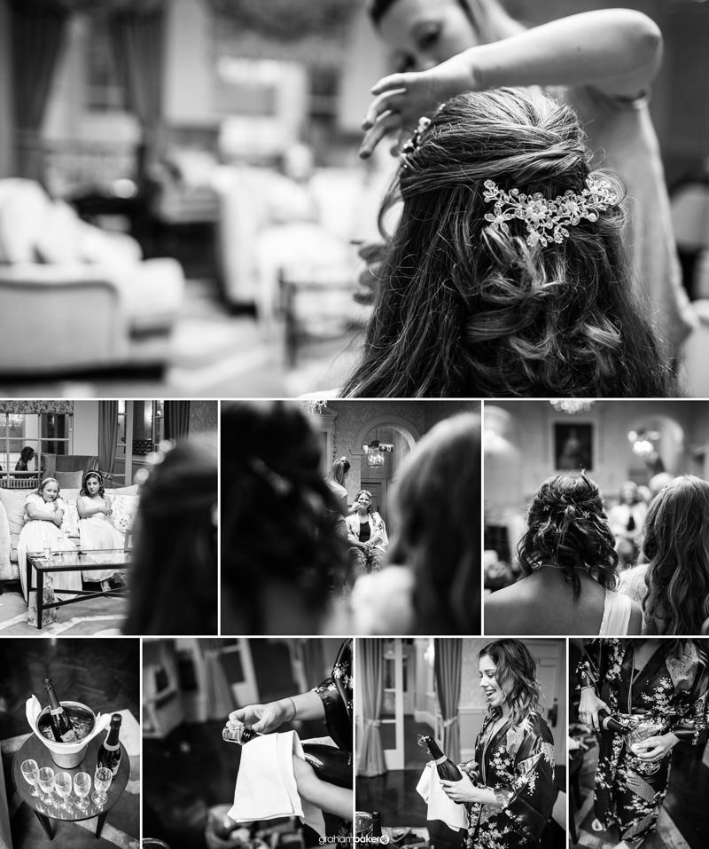 Bride getting ready on the morning of her wedding!