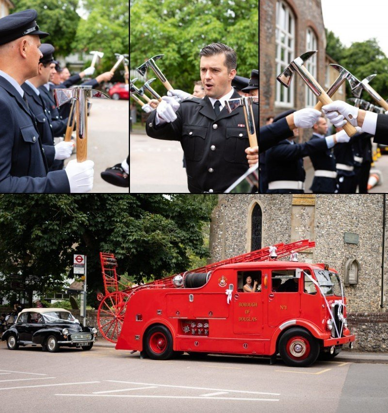 London Fire Brigade Wedding