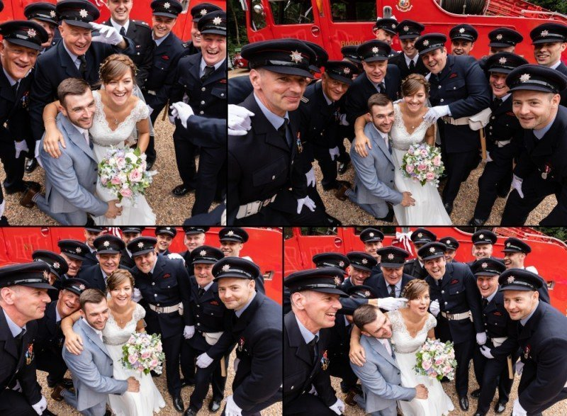 London Fire Brigade Female Firefighter Wedding - Graham Baker Photography