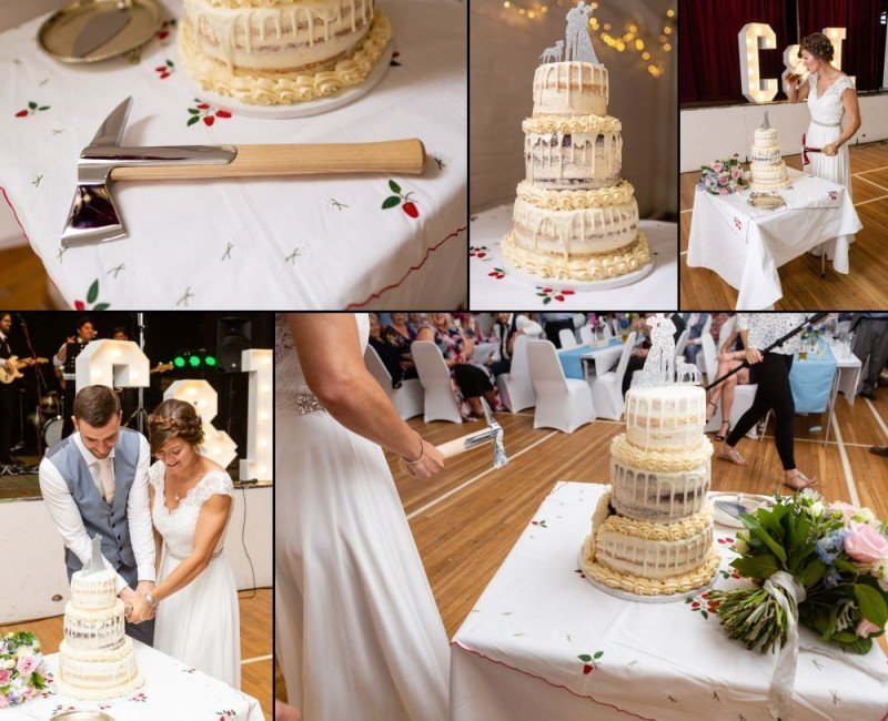 Cutting the Cake - Wedding Reception in Bromley