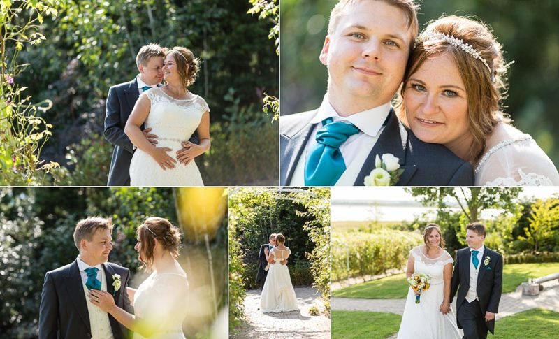 Wedding couple portraits at the Ferry House Inn Kent