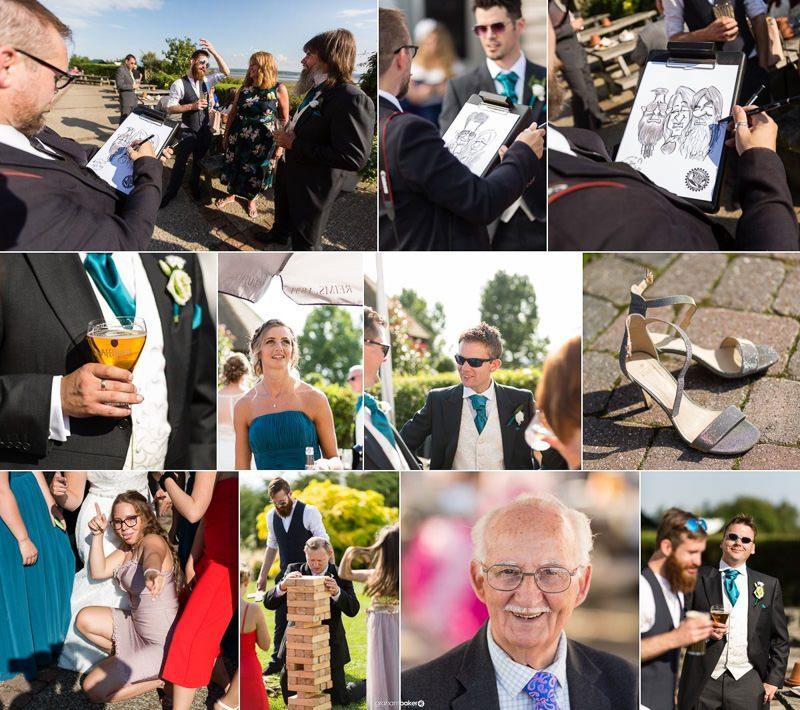 Outdoor wedding reception in Kent