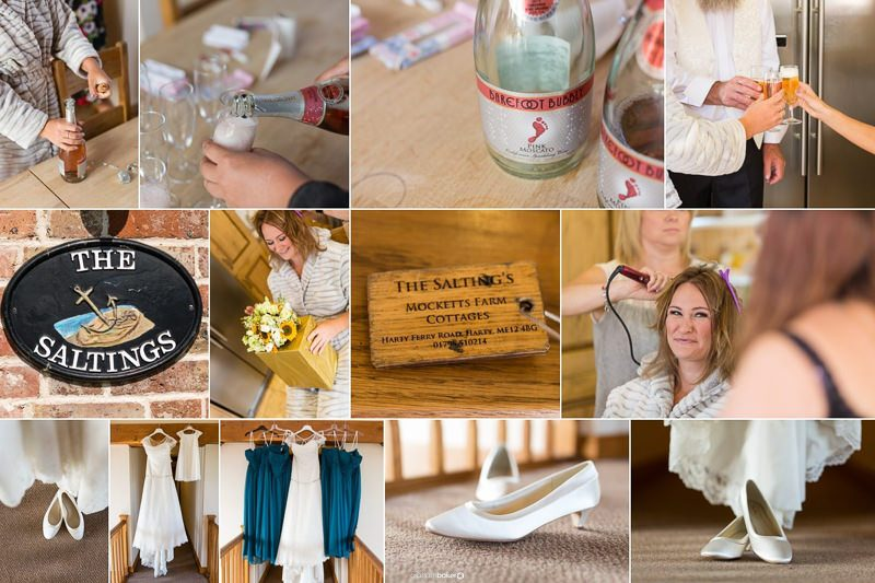 The Saltings at Mocketts Farm Cottages - Kent Bride getting ready for her wedding day!!
