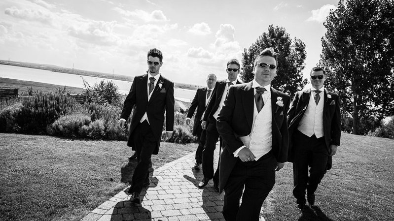 Groom and the best men photos