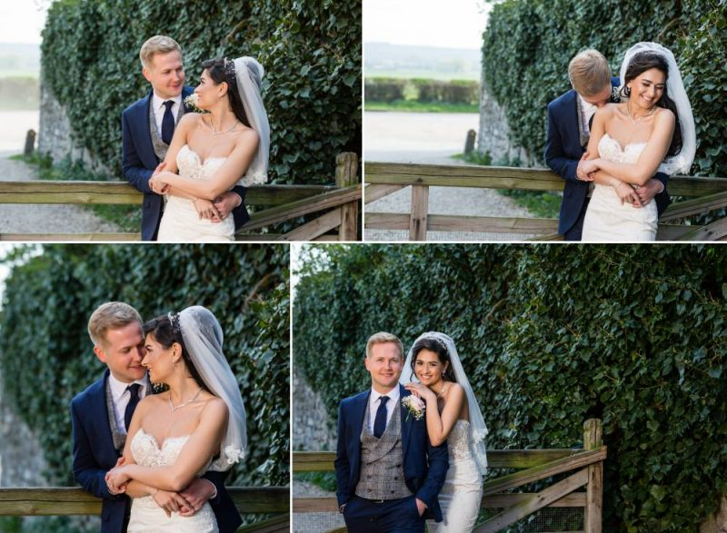 Wedding Couple Portraits at Cooling Castle Barn Kent Wedding Venue