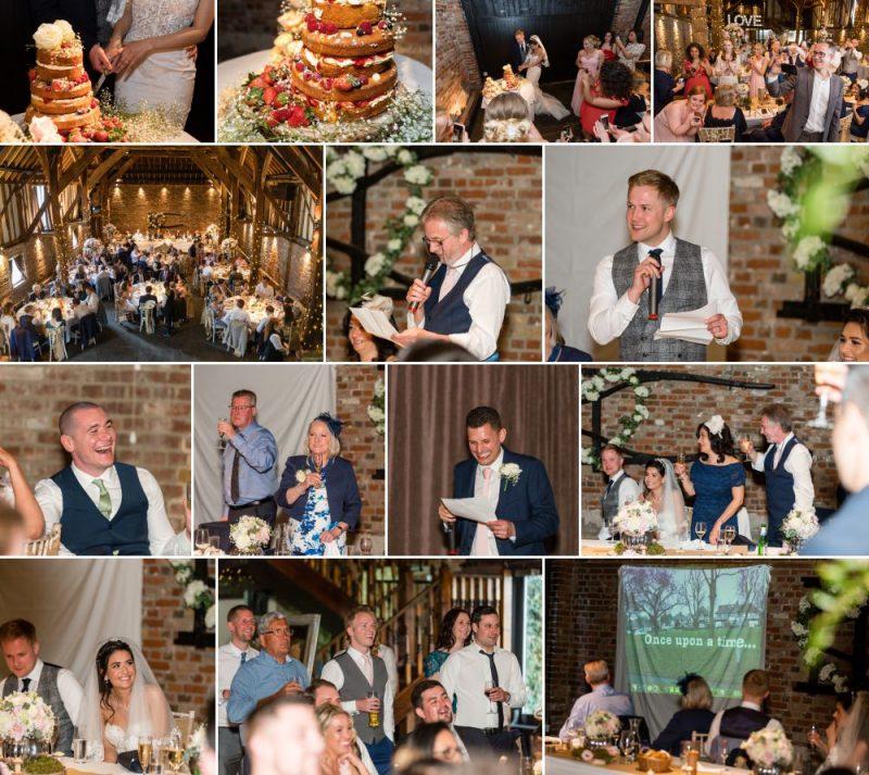 Wedding Reception at Cooling Castle Barn Rochester Kent Wedding Venue