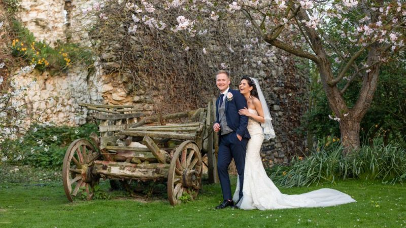 Fun Couple at Cooling Castle Barn Rochester Kent Wedding Venue