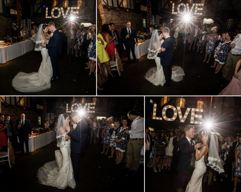 First Dance at Cooling Castle Barn Rochester Kent Wedding Venue