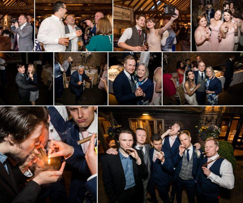 Fun Wedding Reception at Cooling Castle Barn Rochester Kent Wedding Venue