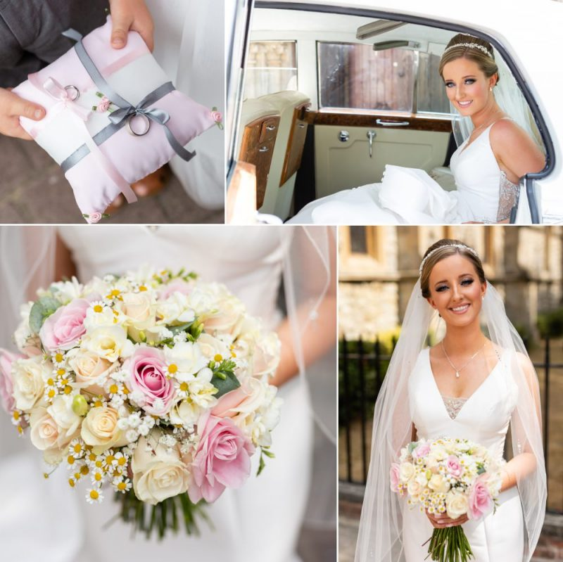 Bride arriving at Christ Church Bexleyheath for her wedding
