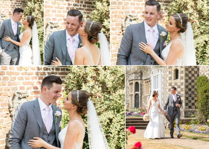 Bride and Groom at Hall Place & Gardens Wedding Venue Bexley Kent