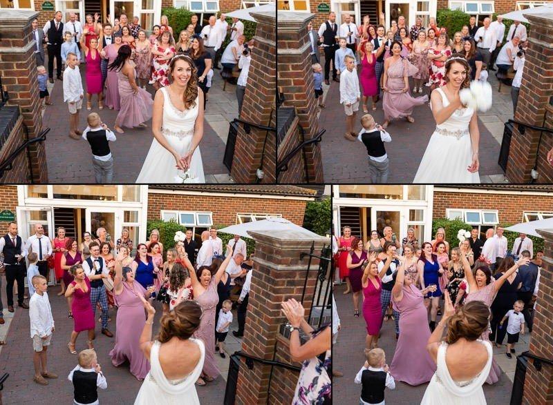 Toss the brides bouquet - Top Meadow Golf Club