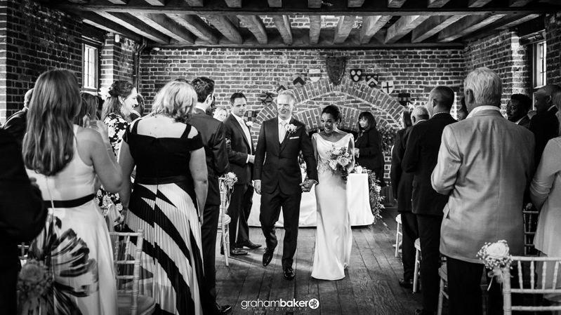 Wedding Ceremony at Tudor Barn Eltham Greenwich Wedding Venue