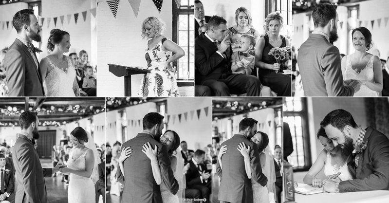 Wedding Ceremony at Tudor Barn Eltham - Royal Greenwich Wedding Photographer Graham Baker Photography