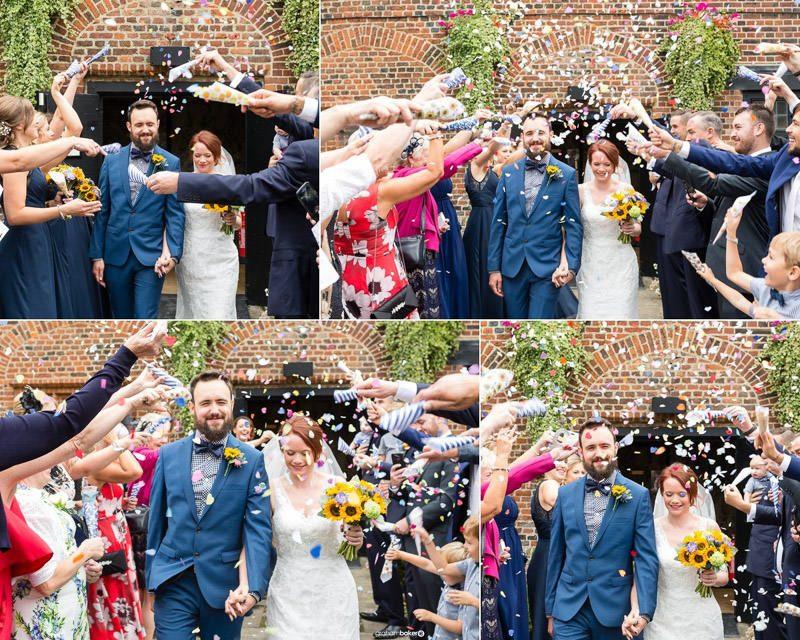 Confetti shots - London Wedding Photography