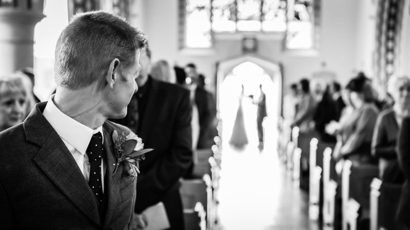Groom Waiting at Church