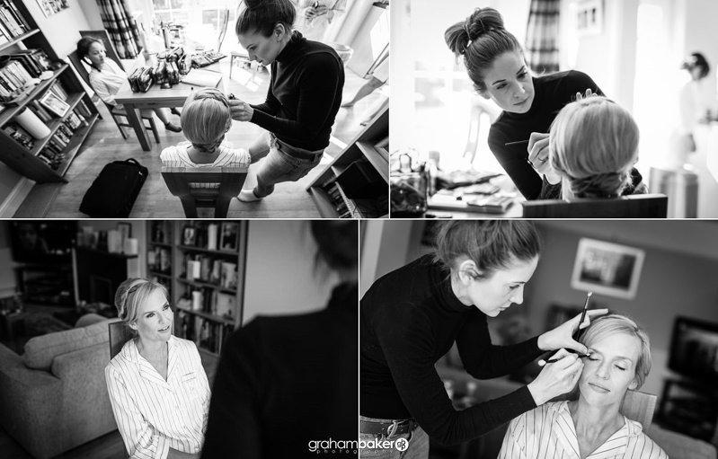 Surrey Wedding - Bridal Hair and Makeup Preparations   Bride Getting Ready