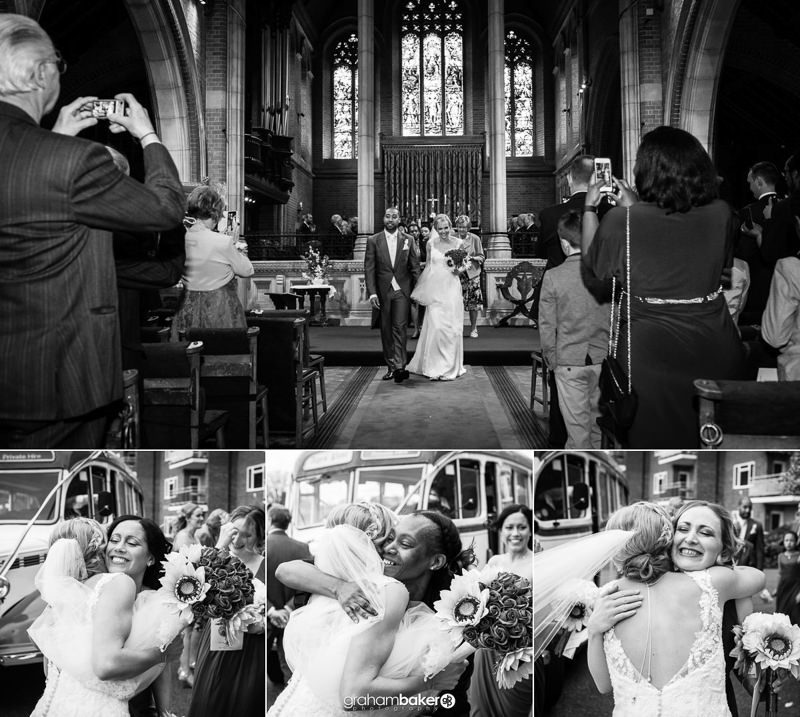 Documentary Wedding Photography at St Peter's Church Staines   Graham Baker Photography London and South