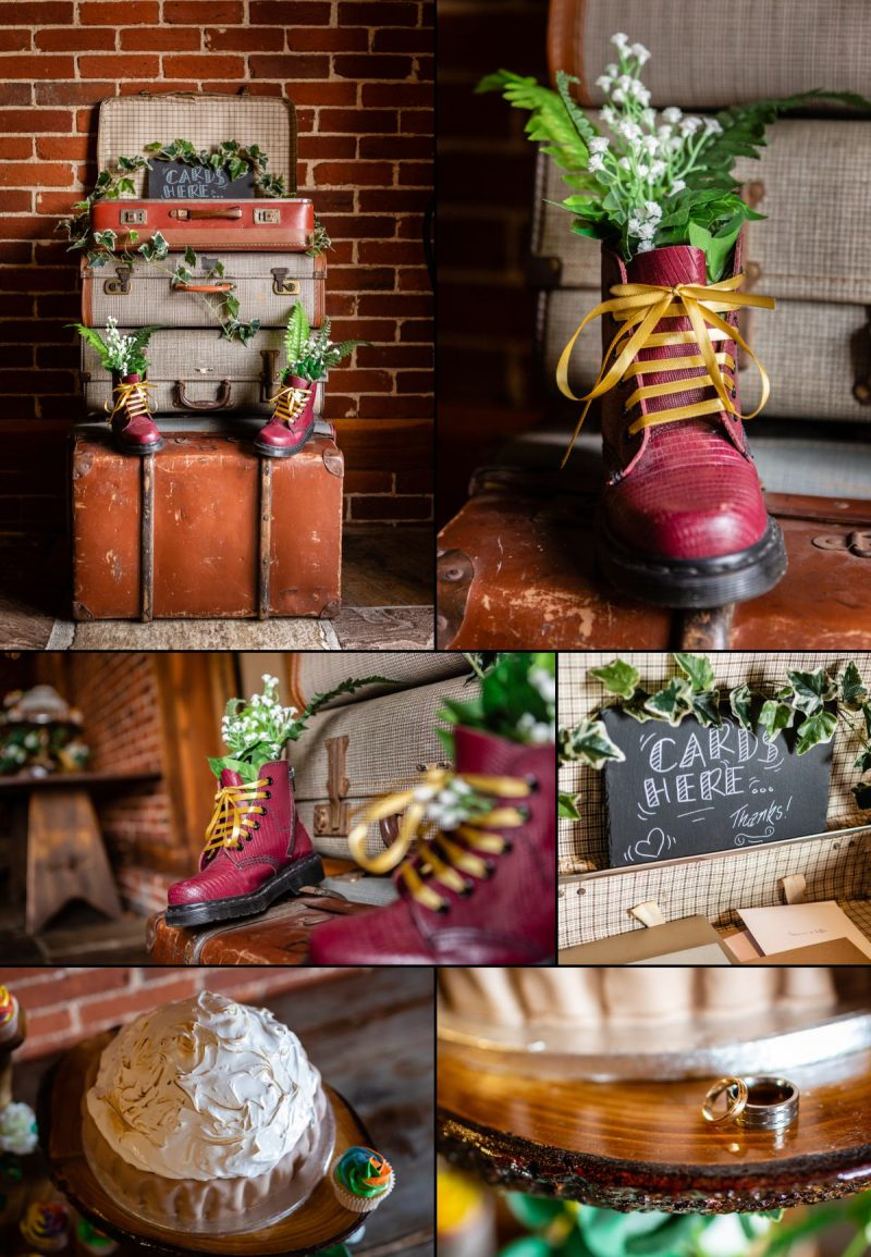 Vintage Details and Dr Martens Boots for a Wedding at The Ferry House Inn Kent