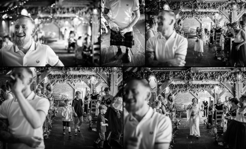 Super Cool Groom Getting Married at Ferry House Inn Kent