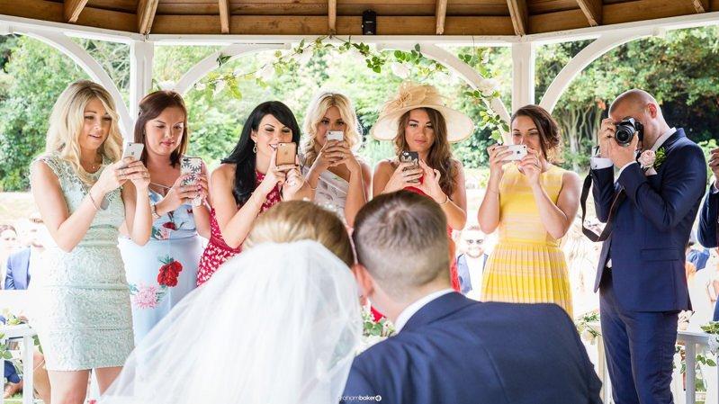 Wedding guest photographers at a summer wedding in Kent