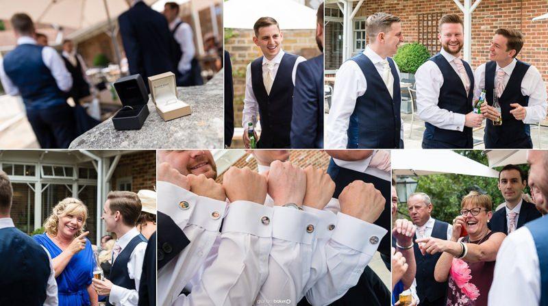 Groom and Groomsmen before the wedding ceremony - Kent Wedding