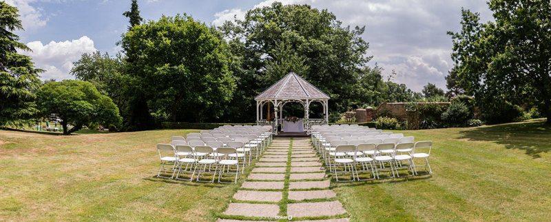Kent wedding venue with an outside wedding gazebo - Rowhill Grange