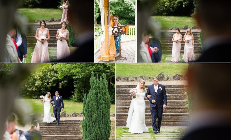 A summers day outdoor wedding ceremony in Kent