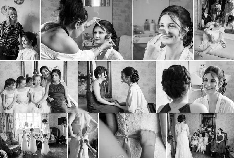 Kent Bride getting ready for wedding