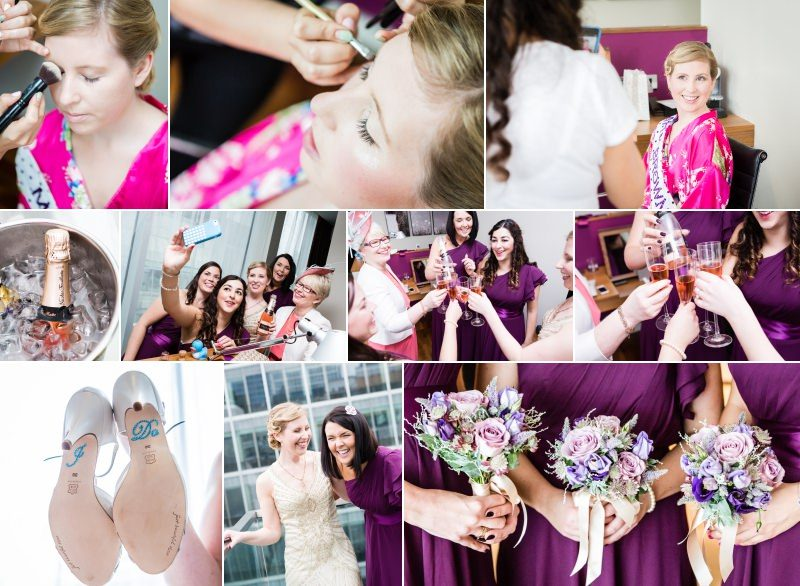 Bride and Bridesmaids getting ready London Wedding Photography