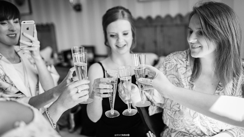 Sussex Bride and Bridesmaids Getting ready in the morning!