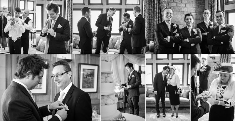 Groom and his Groomsmen getting ready for his wedding day in Sussex