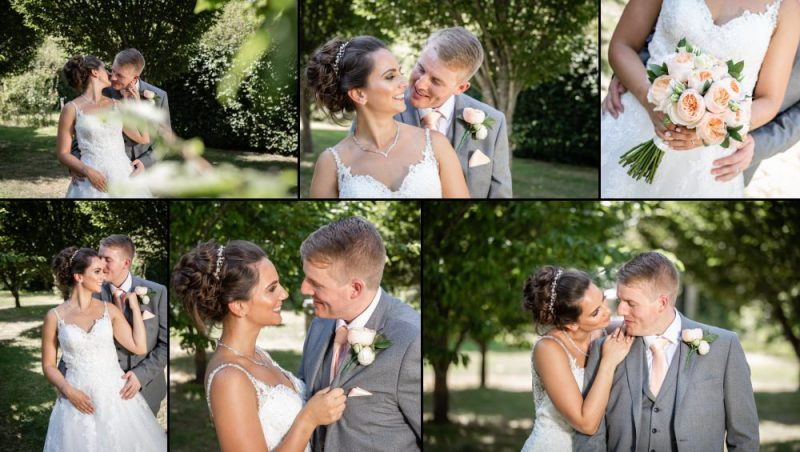 Wedding Couple Portraits at The Gardens Yalding in Kent