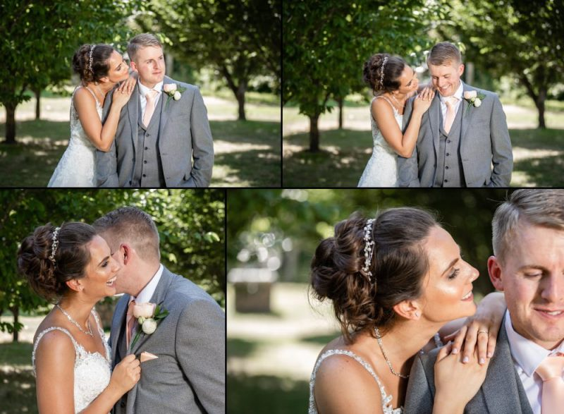 Bride and Groom Portraits at The Gardens Yalding in Kent