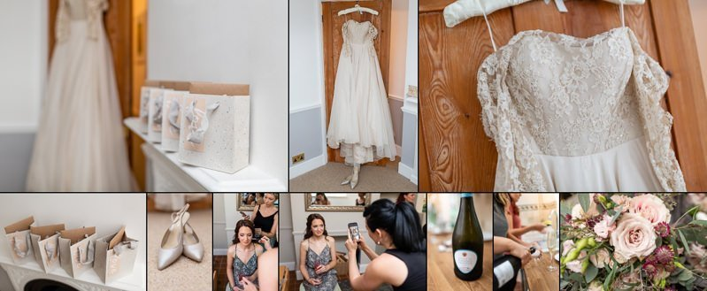 Kent Bride - Bridal Prep - Hair by Charise Dalton Makeup by Zoe Marie Flowers by Floral Explosion