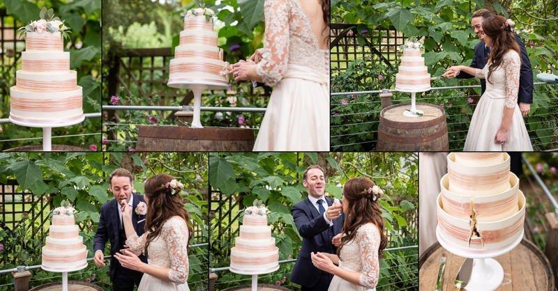 Kent Bride Cake Cutting