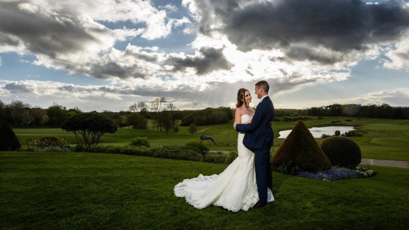 A Kent Bride and Groom on their Wedding Day