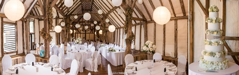 Getting Married at Winters Barns Canterbury Kent - Wedding Cake by Blé Couture Cakes