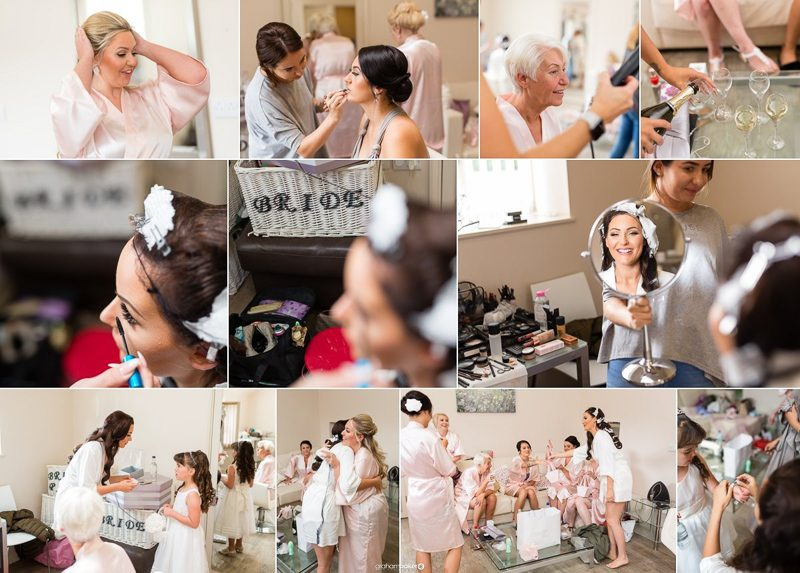 Kent Bride and bridesmaids getting ready photography ideas
