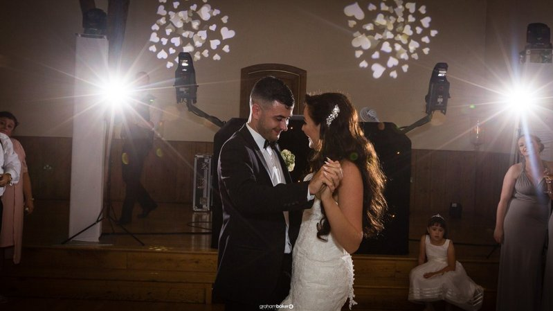First dance - Odyddey Wedding Disco at Winters Barns - Photo by Graham Baker Photography