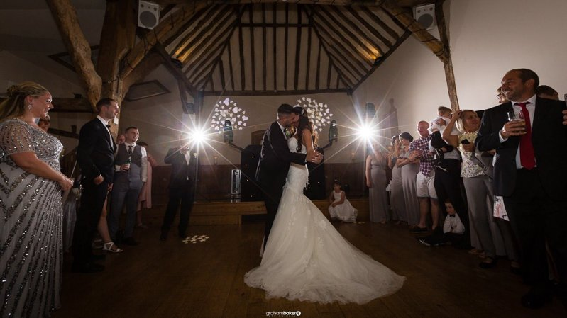 Bride and Groom's First dance - Photo by Graham Baker Photography